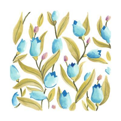 Abbey Floral Tiles VI-June Erica Vess-Art Print