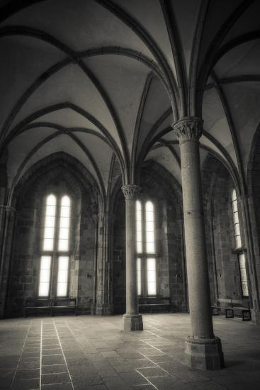 Abbey Interior Mont Saint Michel Monastery Normandy France Premium Photographic Print By Russ Bishop Art Com