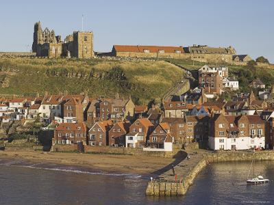 Abbey Ruins, Church, Sandy Beach and Harbour, Whitby, North Yorkshire, Yorkshire-Neale Clarke-Photographic Print