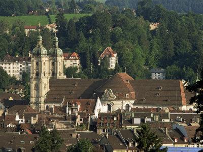 Abbey, St. Gallen, Switzerland-John Miller-Photographic Print