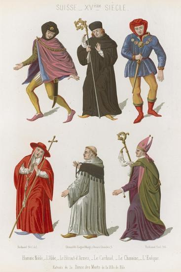Abbot, the Chief Herald, Cardinal, Canon and Bishop--Giclee Print