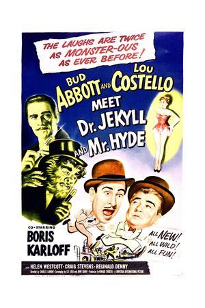 Abbott /& Costello meet Dr Jekyll /& Mr Hyde movie poster print