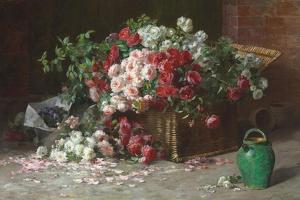 Ein Korb mit Rosen. Um 1890 by Abbott Fuller Graves