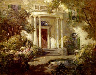 Front Porch in Dappled Sunlight by Abbott Fuller Graves