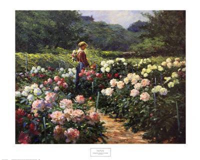 Woman in a Garden of Peonies