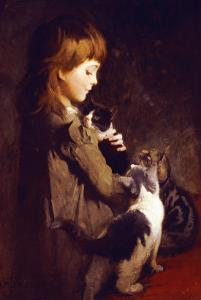 The Favorite Kitten by Abbott Handerson Thayer