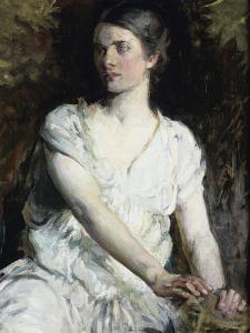 Woman in White by Abbott Handerson Thayer