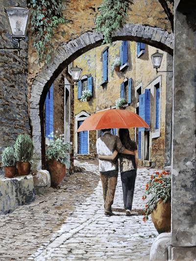 Abbracciati Sotto l'arco-Guido Borelli-Giclee Print