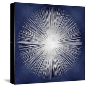 Silver Sunburst on Blue I by Abby Young