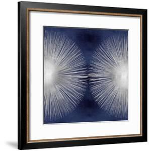 Silver Sunburst on Blue II by Abby Young
