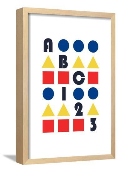 ABC 123--Framed Poster