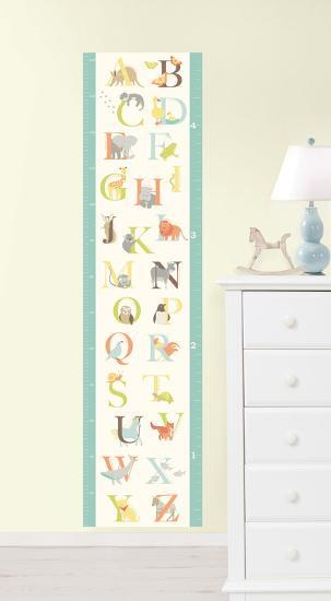 ABC Jungle Growth Chart Wall Decal Sticker--Wall Decal