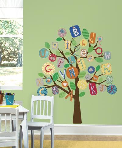 ABC Primary Tree Peel & Stick Giant Wall Decal--Wall Decal