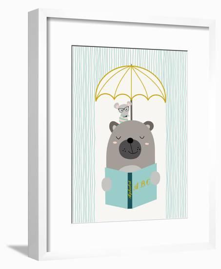 Abcbear-Nanamia Design-Framed Art Print