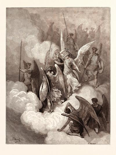 Abdiel and Satan-Gustave Dore-Giclee Print