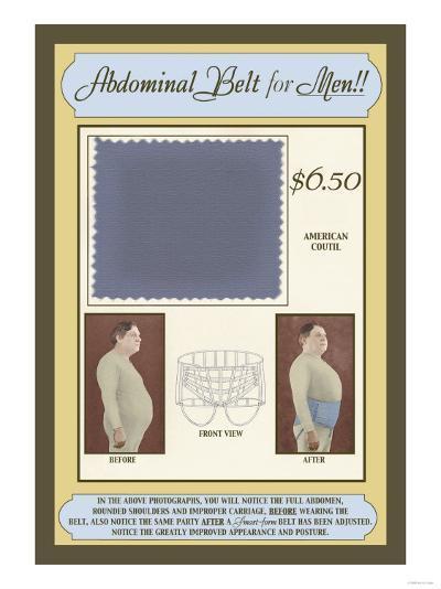 Abdominal Belt for Men!--Art Print