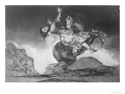 Abducting Horse, Plate 10 of Proverbs, c.1819-23-Francisco de Goya-Giclee Print