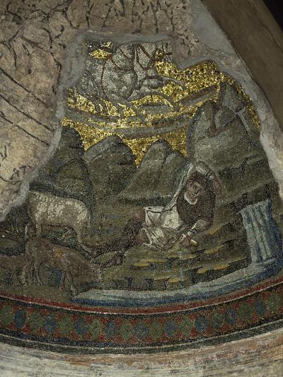 Abduction of Elijah, Detail from Mosaics in Chapel of Saint Aquilino--Giclee Print