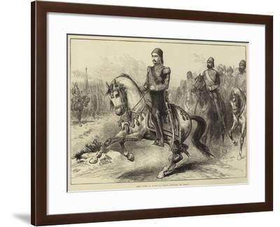 Abdul Hamid II, Sultan of Turkey, Reviewing His Troops-Arthur Hopkins-Framed Giclee Print
