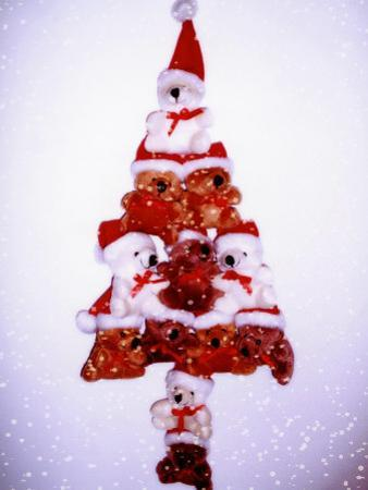 Christmas Tree Made from Teddy Bears