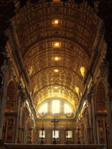 Inside St. Peter's Basilica, Vatican City, Italy by Abdul Kadir Audah