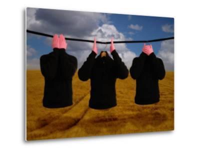 See No Evil, Speak No Evil, Hear No Evil in a Surrealist Theme