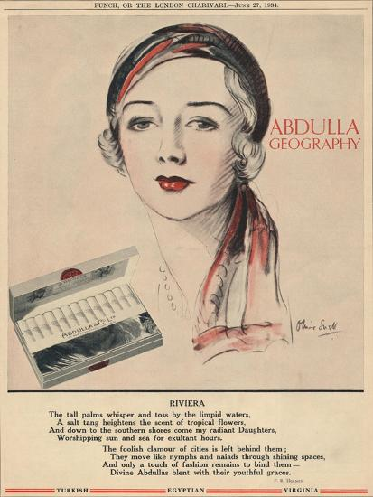 'Abdulla Geography - Riviera', 1934-Unknown-Giclee Print