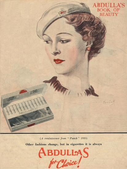 'Abdulla's Book for Beauty - Abdullas for choice', 1941-Unknown-Giclee Print