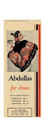 'Abdullas for choice', 1943-Unknown-Giclee Print