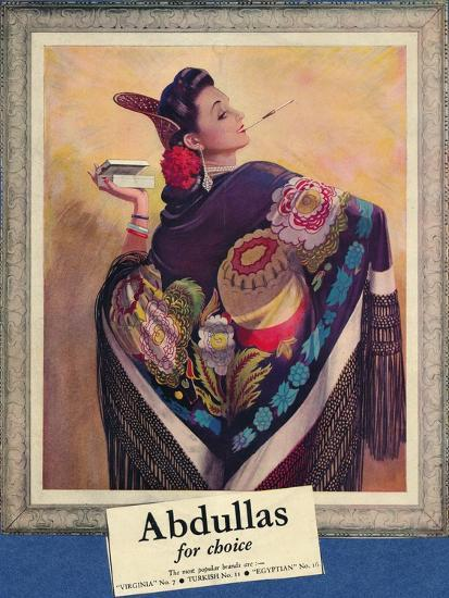 'Abdullas for choice', c1945-Unknown-Giclee Print
