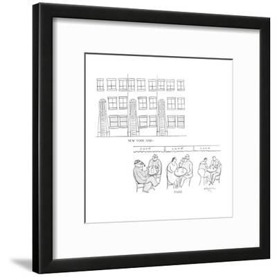 New York and—  Paris - New Yorker Cartoon