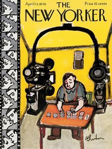 The New Yorker Cover - April 13, 1946 by Abe Birnbaum