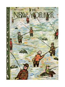 The New Yorker Cover - April 23, 1955 by Abe Birnbaum