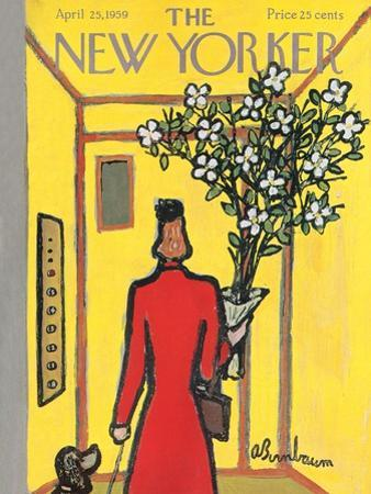 The New Yorker Cover - April 25, 1959 by Abe Birnbaum