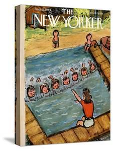The New Yorker Cover - August 21, 1954 by Abe Birnbaum