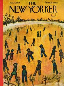 The New Yorker Cover - January 17, 1953 by Abe Birnbaum