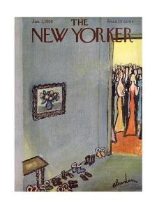 The New Yorker Cover - January 3, 1959 by Abe Birnbaum