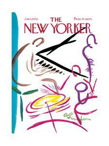 The New Yorker Cover - January 6, 1968 by Abe Birnbaum