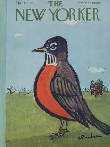 The New Yorker Cover - March 14, 1959 by Abe Birnbaum