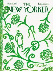 The New Yorker Cover - March 20, 1971 by Abe Birnbaum