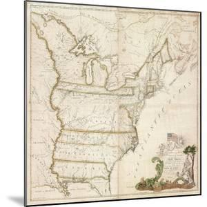 America's First National Map, 1784 by Abel Buell