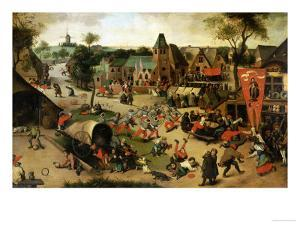 A Carnival on the Feastday of Saint George in a Village Near Antwerp by Abel Grimmer