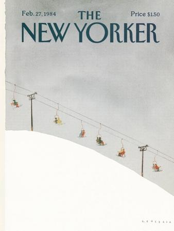 The New Yorker Cover - February 27, 1984 by Abel Quezada