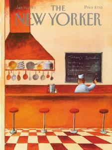 The New Yorker Cover - January 10, 1983 by Abel Quezada