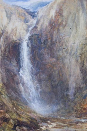 Aber Falls-Henry Clarence Whaite-Giclee Print