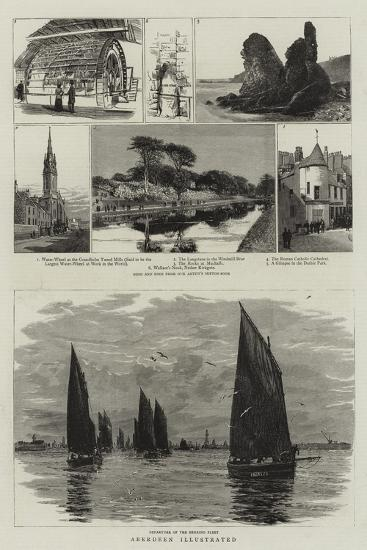 Aberdeen Illustrated--Giclee Print