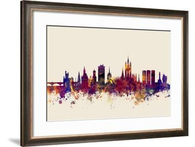 Aberdeen Scotland Skyline-Michael Tompsett-Framed Art Print