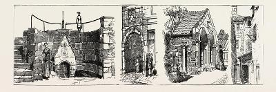 Aberdeen: the Well of Spa (Left); Old Gateway to Marischal College (Second from Left); Summer House--Giclee Print