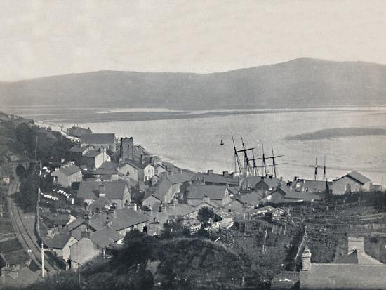 'Aberdovey - View of the Town and the Bay', 1895-Unknown-Photographic Print