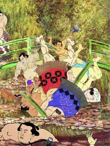 Japanese Footbridge Mishap, Giverny II by Aberrant Art
